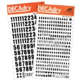 Decadry Transfer Lettering - Black