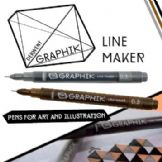 Derwent Graphik Line Maker Single Colours