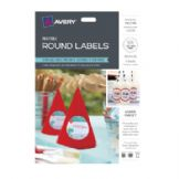 Avery Round Labels - 60 Gloss White