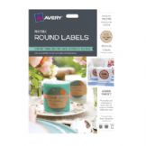 Avery Round Labels - 60 Kraft Brown