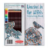 Unwind in the Wilds plus 10 Coloursoft pencils