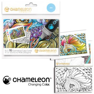 Chameleon Embossed Color Cards Shading /& Colouring Guides Mini Mandalas